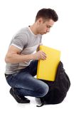 Packing school file Royalty Free Stock Photos