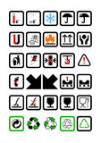 Packing and Shipping Symbols Stock Images