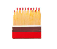 Packing of souvenir matches Royalty Free Stock Images