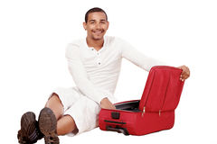 Packing suitcase Stock Photo