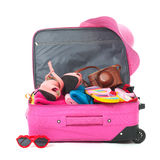 Packing the suitcase Royalty Free Stock Images