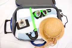 Packing a suitcase Royalty Free Stock Images