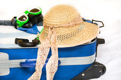 Packing a suitcase Royalty Free Stock Image