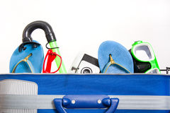 Packing a suitcase Stock Photos
