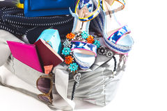 Packing suitcase for trip Royalty Free Stock Photography