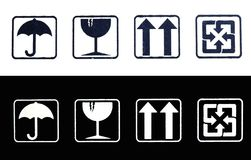 Packing symbols Stock Photo