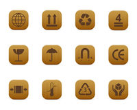 Packing symbols Royalty Free Stock Image