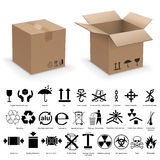 Packing symbols Stock Photography