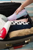 Packing. To go on vacation Royalty Free Stock Photos