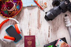 Packing for travel Royalty Free Stock Photos