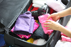 Packing for travel Stock Images