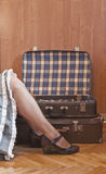 Packing and travel, retro stock photo