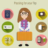 Packing for the trip Stock Photos