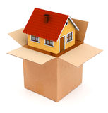 Packing or unpacking a house Royalty Free Stock Photo