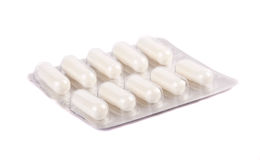 Packing of white tablets Royalty Free Stock Photography