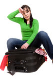 Packing woman Royalty Free Stock Photo