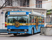 Packlibus on the Bahnhofstrasse street in Zurich Royalty Free Stock Photography