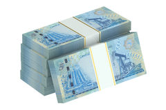 Packs of Bahraini dinars Royalty Free Stock Images