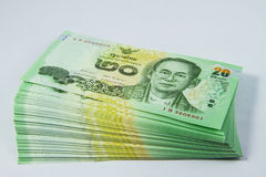 Packs of baht. Stock Photos