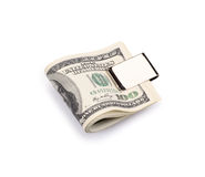 Packs of dollars with clip Stock Image