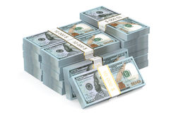 Packs of dollars closeup Royalty Free Stock Photography