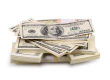 Packs of dollars and euro Stock Photo