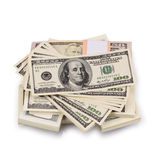 Packs of dollars and euro Royalty Free Stock Image