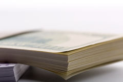 Packs of dollars and euros Stock Photography