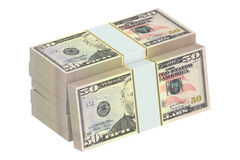 Packs of dollars Stock Photography