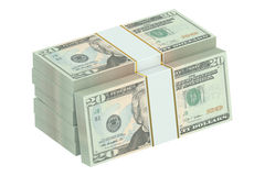 Packs of dollars Royalty Free Stock Photo