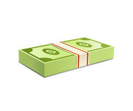 Packs--dollars-money Stock Photo