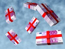 Packs Euro. Soaring in the blue sky Stock Images