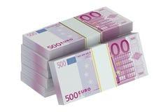 Packs of euro Stock Photo