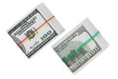 Packs of Hundred Dollars. On a white background Stock Illustration
