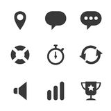 Packs icons User interface for mobile devices and Royalty Free Stock Images