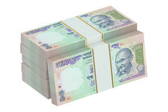 Packs of Indian rupee Royalty Free Stock Images