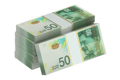 Packs of israeli shekel Stock Images