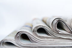 Packs of newspapers Royalty Free Stock Image
