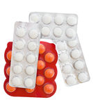 Packs Of Pills Isolated On White Stock Images