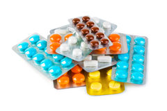 Packs of pills Royalty Free Stock Photos