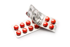 Packs of pills Stock Image