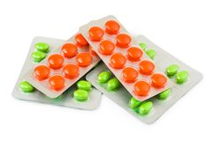 Packs of pills Stock Photo
