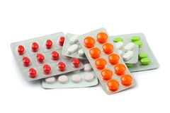 Packs of pills Stock Photography