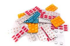 Packs of pills Stock Photos