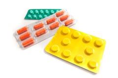 Packs of pills Stock Photo