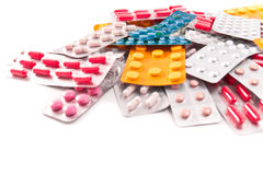 Packs of pills Royalty Free Stock Image