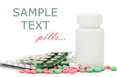 Packs of pills - abstract medical background Royalty Free Stock Photo