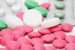 Packs of pills - abstract medical background Stock Image