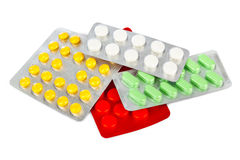 Packs of pills Royalty Free Stock Images