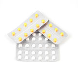 Packs of pills isolated on white background.  royalty free stock photography